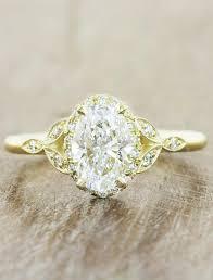 golden diamond rings images Rachael oval diamond rose gold engagement ring ken dana design jpg