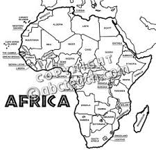 africa map black and white africa clipart black and white