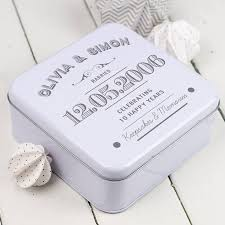 tin anniversary gifts wedding gift best gift ideas for tin wedding anniversary from