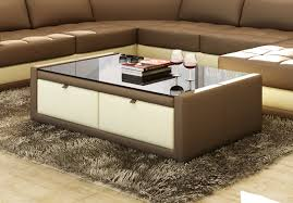coffee tables simple remarkable faux leather coffee table with