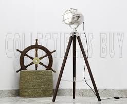 Nautical Spotlight Floor Lamp by Industrial Style Vintage Movie Spot Light Floor Lamp Silver Finish