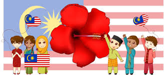 Maylasia Flag Malaysian Kids With Lily Flower And Flag Happy Malaysia Day