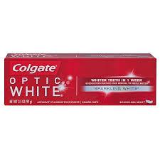 toothpaste whitening colgate optic white sparkling mint whitening toothpaste 3 5oz
