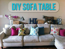 console table behind sofa against wall diy sofa table let s get crafty