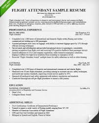 Flight Attendant Sample Resume by Extremely Inspiration Cover Letter For Flight Attendant 9 Sample