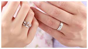 open wedding band cubic zirconia cross wedding band and open heart crown ring set