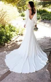 Long Sleeve Wedding Dresses Long Sleeved Wedding Dress With Bateau Neckline Martina Liana