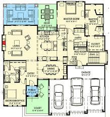 Floor Plans For Sloped Lots Modern Prairie House Plan For A Rear Sloping Lot 64421sc