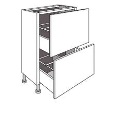 caisson cuisine 30 cm de cuisine bas faible profondeur 2 tiroirs twist cuisine meuble