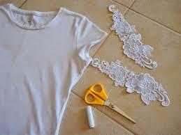 Favorito Como customizar camiseta com renda nas mangas, DIY | 3por4 @DR12
