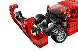 nissan lego lego releases detailed ferrari f40 creator set