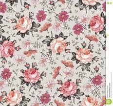 wallpaper vintage rose pattern background stock illustration