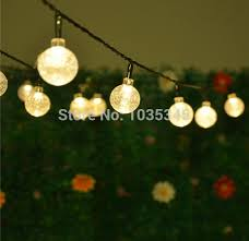 20 led solar powered outdoor string lights led
