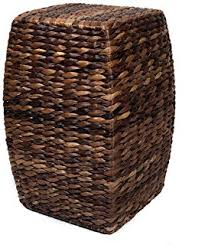 Seagrass Storage Ottoman Birdrock Home Woven Seagrass Storage Ottoman With