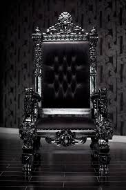 Throne Chair Black Lacquer Baroque Throne Chair Be The King Or Or Your