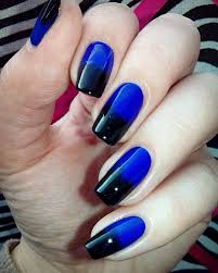 nail art designs blue black best nail 2017 black and blue nail