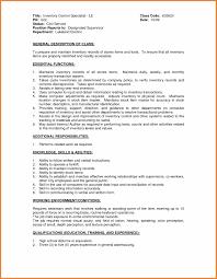 Resume Sle Objectives Sop Proposal - inventory resume sles control clerk jobsxs com pics exles
