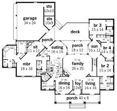 southern style house plan 4 beds 4 5 baths 4038 sq ft plan 45
