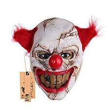 decorative masks hyaline clown mask with hair for