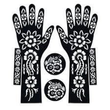 6pcs lot large mehndi henna tattoo stencils 21 12cm flower