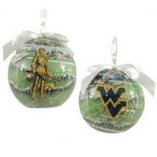 west virginia mountaineers two sided jersey ornament navy blue