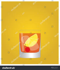 old fashioned cocktail clipart minimalist drinks list old fashioned golden stock vector 295036949