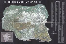 Fallout 3 Locations Map by Elder Scrolls Skyrim Dragon Shouts Locations Map Scrolls Of