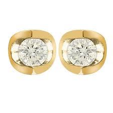 chapelle earrings 9ct gold mezza 25pt total diamond stud earrings chapelle