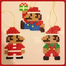 super mario christmas ornaments set of 3 11 00 via etsy