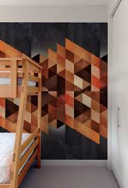 create a captivating accent wall with geometric patterned wall tiles