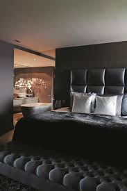 Black Modern Bathroom Bedroom Awesome Bachelor Pad Bedroom With Black Modern Bed Feat