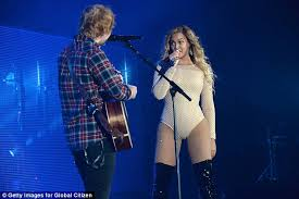 ed sheeran perfect video actress beyonce duets with ed sheeran on perfect daily mail online