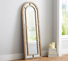 Ideas Design For Arched Window Mirror Great Distiller Arched Wood Floor Mirror Pottery Barn With Arched