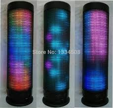 light up bluetooth speaker multicolor light up led music dancing bluetooth pulse speaker