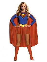 Quality Halloween Costume Burlesque Box Deluxe Supergirl Superwoman Fancy Dress Party