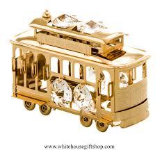 ornament gold san francisco cable car ornament or desk model