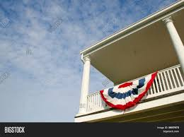 Big American Flags American Flag On A Balcony Image Cg5p657670c