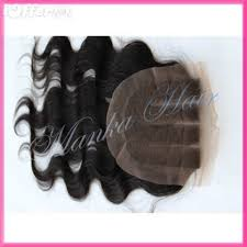 top closure three 3 part lace top closure 14 hair wave for sale