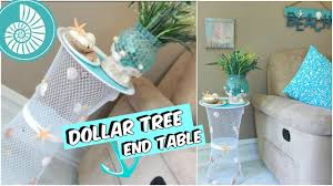 Dollar Tree Curtains Dollar Tree End Table Beach Decor Tutorial Youtube