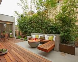 Gartengestaltung Terrasse Hang Terrasse Mauerscheiben Und Holz Gartengestaltung Terrasse Ideen