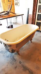 salvaged clawfoot tub 5 ft clawfoot tub with standing waste