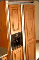 Refrigerator Wood Panels To Match Your Cabinets Httpwww - Match kitchen cabinet doors