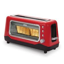 Glass In Toaster Oven Amazon Com Dash Clear View Toaster Kitchen U0026 Dining