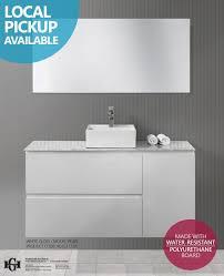 pearl 1200mm white gloss polyurethane bathroom vanity with stone