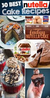 best nutella cake recipes