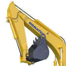 mining excavator komatsu pc800 3d cgtrader