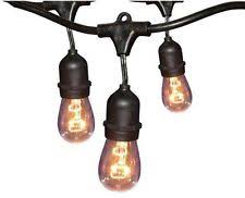 Commercial Grade Patio Light String by Sival Commercial Grade Patio Light Strings Black Lsm 24 48 Ebay