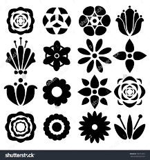 black and white flowers pictures cliparts co for flower art design