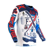 motocross gear fox fox racing 2016 youth 180 vicious jersey blue white available at