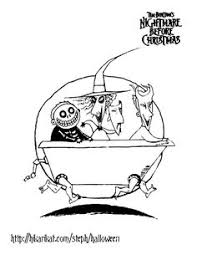 Bathtub Boogie Nightmare Before Christmas Coloring Pages 1 2 3 Now Pinterest